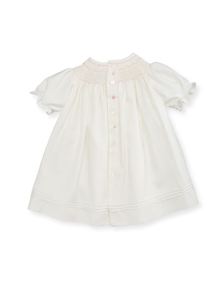 Smocked Bishop Dress w/ Bloomers, Ivory, Size 3-12 Months