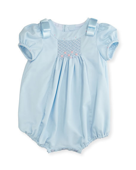 Luli & Me Ribbon-Shoulder Bubble Playsuit, Size 3-24