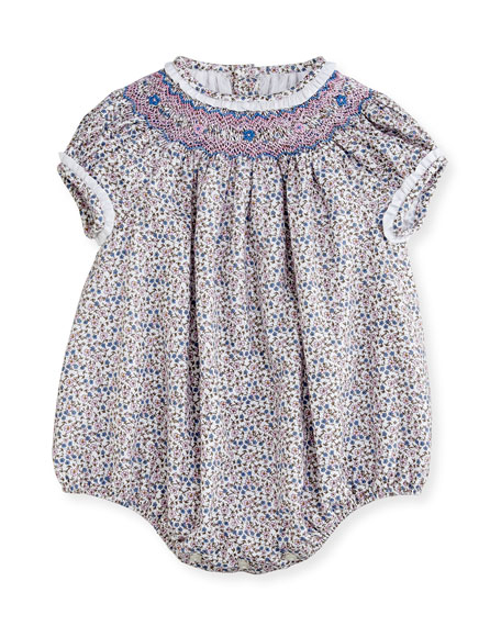 Luli & Me Floral Bubble Playsuit, Size 3-24