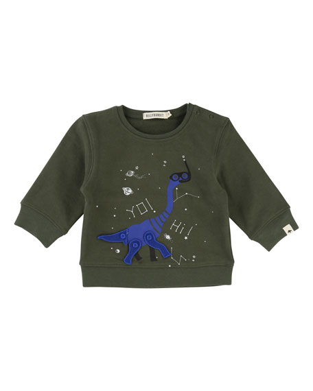 Billybandit Dino Sweatshirt w/ Movable Parts, Size 2-3
