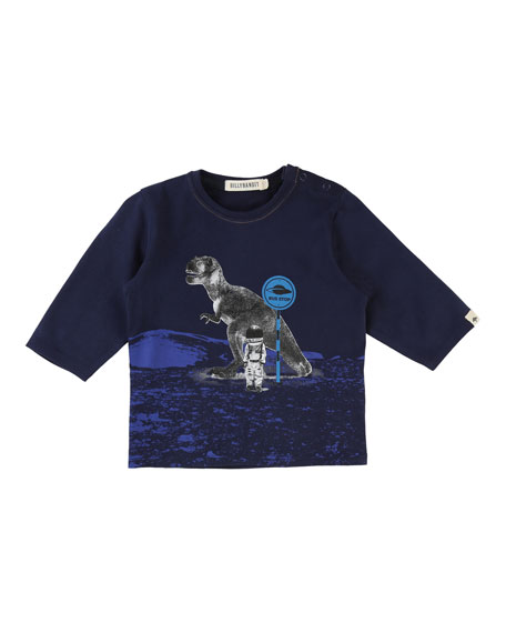 Long-Sleeve T-Rex Space Tee, Size 12-18 Months