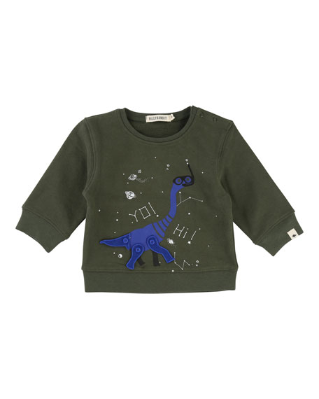Dino Sweatshirt w/ Movable Parts, Size 12-18 Months