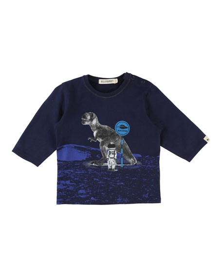 Billybandit Long-Sleeve T-Rex Space Tee, Size 2-3