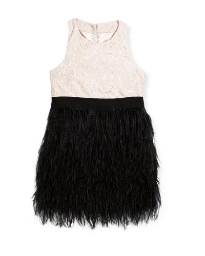 Lace Blaire Feather Dress, Size 8-16