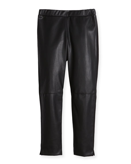 Milly Minis Vegan Leather Leggings, Size 4-7 and