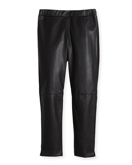 Vegan Leather Leggings, Size 8-16