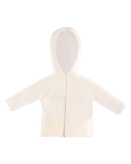 Hooded Knit Coat, Size 3-24 Months