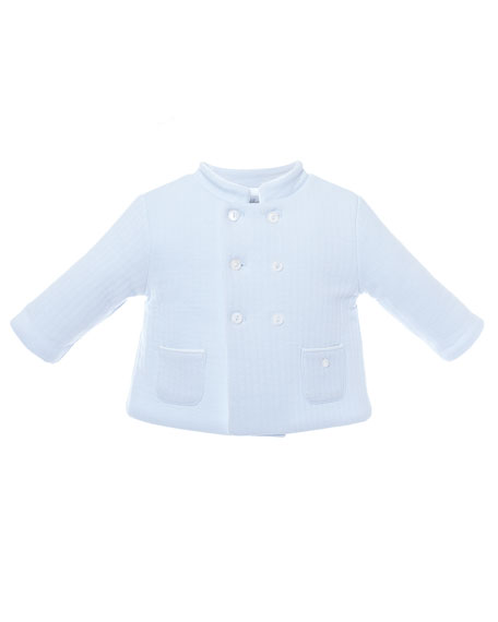 Patachou Double-Breasted Quilted Coat, Size 3-24 Months
