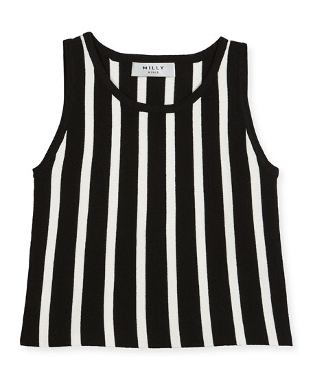 Knit Striped Shell Top, Size 8-14