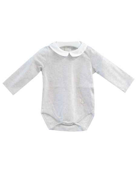Patachou Two-Tone Collared Playsuit, Size 3-18 Months