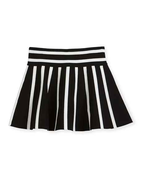 Knit Striped Flare Skirt, Size 8-14