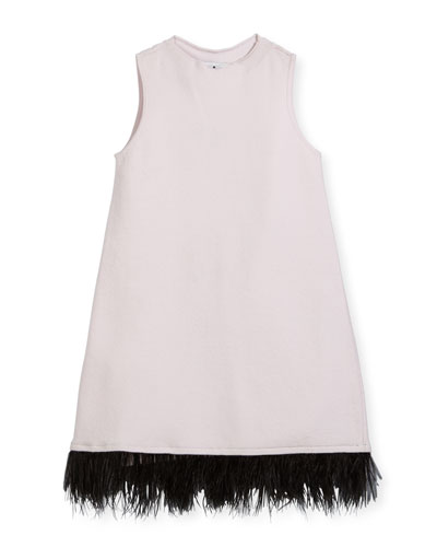 Feather Swing Dress, Size 8-14