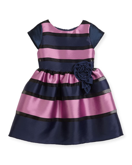 Charabia Daria Broad Striped Party Dress, Size 5-8