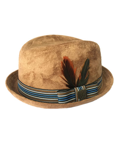 Boys' Sueded Trilby Hat
