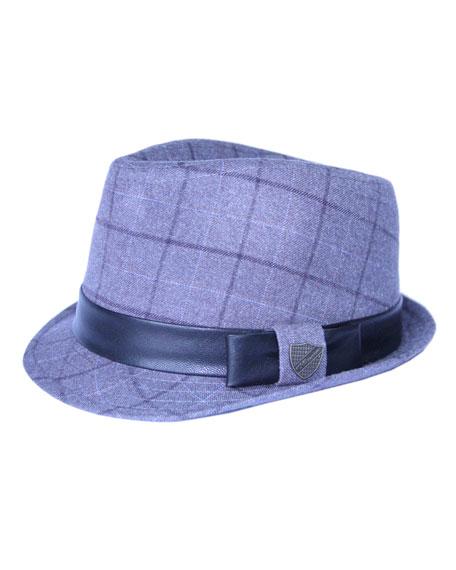Fore Boys' Club Plaid Fedora Hat