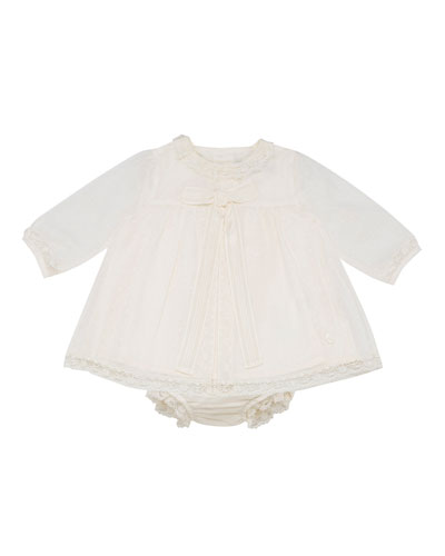 Smocked Dress w/ Bloomers, Size 3-12 Months