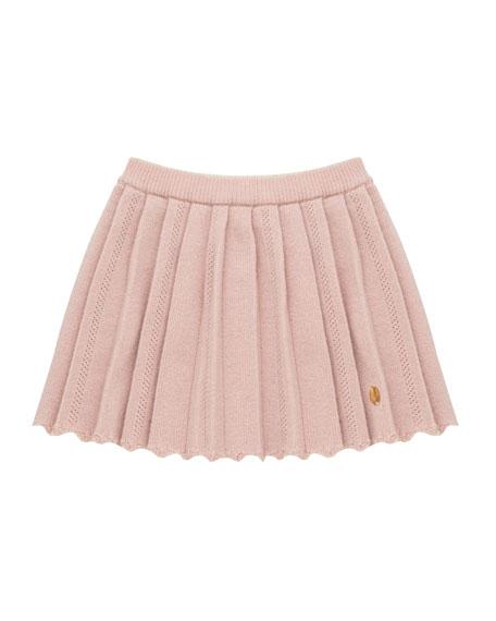 Pili Carrera Pleated Knit Skirt, Size 12M-4T