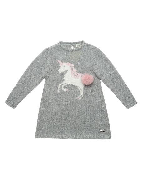 Pili Carrera Knit Unicorn Sweater Dress, Size 2-6