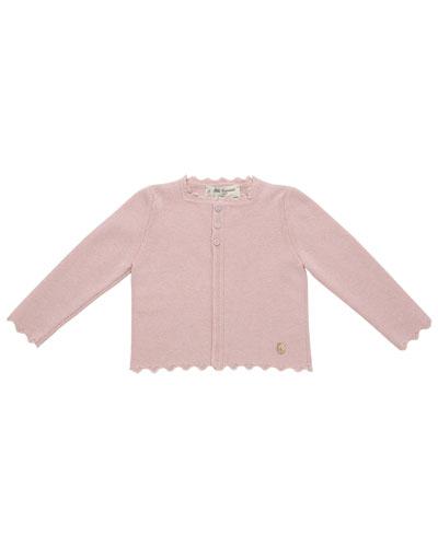 Flat-Knit Cardigan, Size 12M-4T