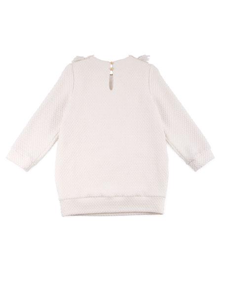 Sweater Dress w/ Lace & Fringe Detail, Size 4-8