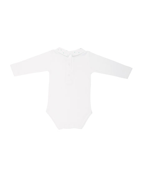 Penguin-Embroidery Bodysuit, Size 3-12 Months