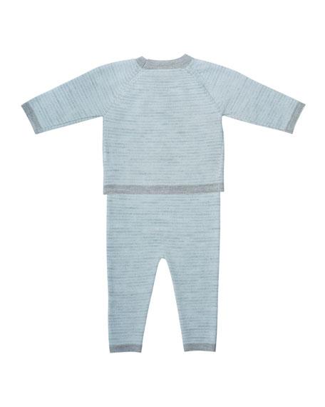 Striped Knit Shirt w/ Leggings, Size 3-12 Months