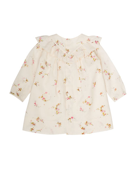 Swiss-Dot Floral-Print Dress, Size 6 Months-2T