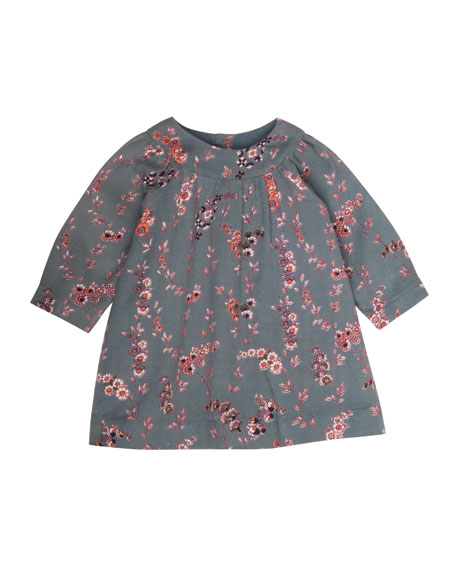 Bonpoint Floral-Print Babydoll Dress, Size 3-18 Months
