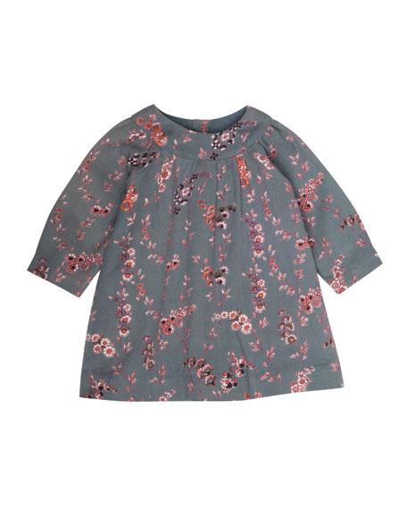 Floral-Print Babydoll Dress, Size 3-18 Months