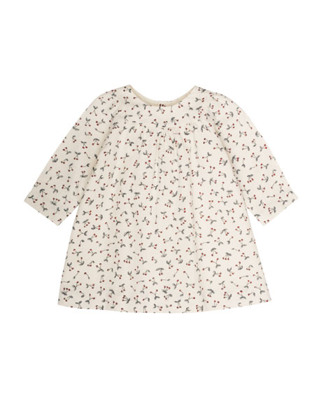 Bonpoint Cherry-Print Babydoll Dress, Size 6 Months-2T