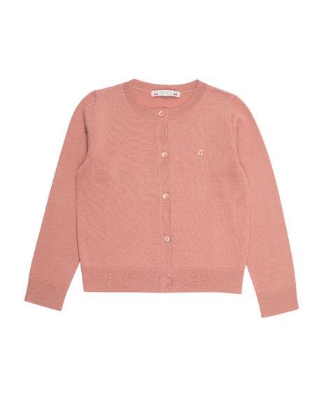 Bonpoint Knit Wool Cardigan, Size 3-8