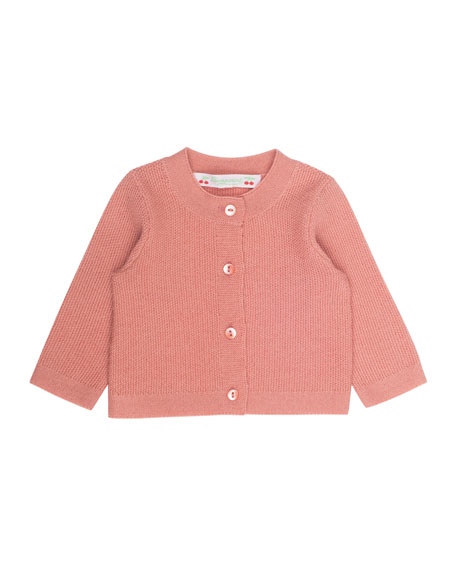 Bonpoint Knit Wool Cardigan, Size 6 Months-2T