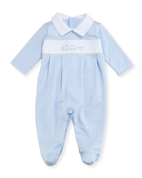 Kissy Kissy Steam Engine Footie Pajamas, Size Newborn-9M