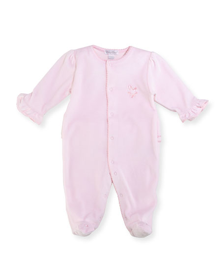 Kissy Kissy Rockabye Buggy Velour Footie Pajamas, Size