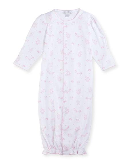 Rockabye Buggy Convertible Pima Sleep Gown, Size Newborn-Small