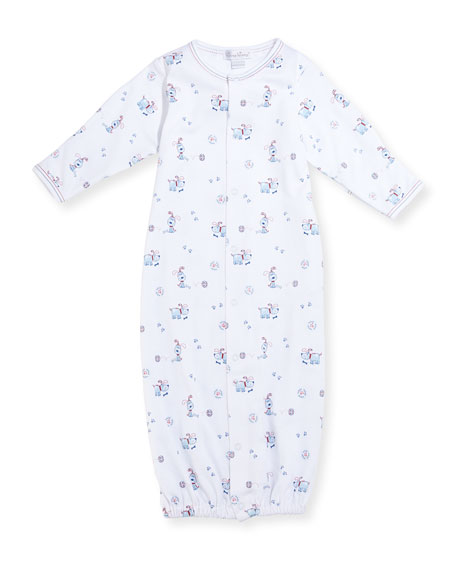 Pup Paw-trol Printed Convertible Pima Sleep Gown, Size Newborn-Small