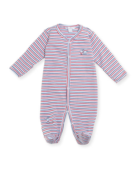 Kissy Kissy Pup Paw-trol Striped Footie Pajamas, Size