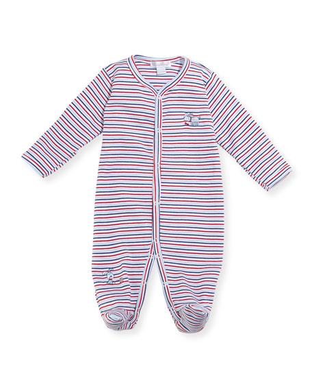 Pup Paw-trol Striped Footie Pajamas, Size Newborn-9M