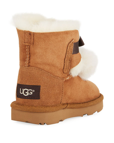 Gita Pompoms Shearling Fur Boot, Toddler Sizes 6-12