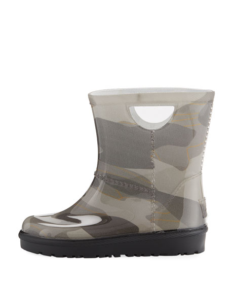 Rahjee Camo Rubber Rain Boot, Youth