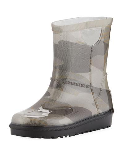 Rahjee Camo Rubber Rain Boot, Youth