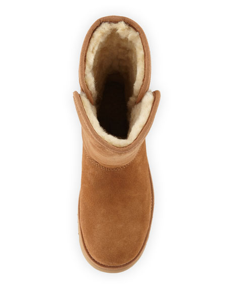 Alexey II Sheepskin Stitched Boot, Size 13T-6Y