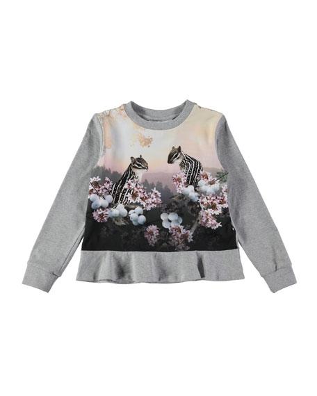 Rakel Long-Sleeve Chipmunk T-Shirt, Size 3-10