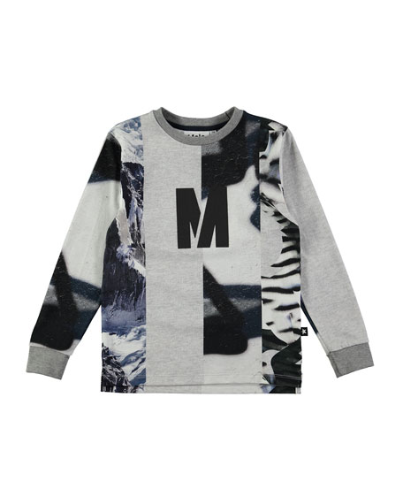 Molo Romus Long-Sleeve T-Shirt, Size 4-12