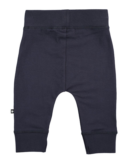 Sammy Soft Solid Track Pants, Navy, Size 12-24 Months