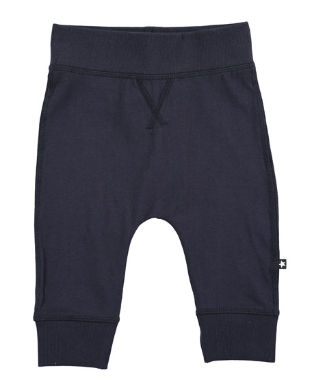 Sammy Soft Solid Track Pants, Navy, Size 12-24 Months