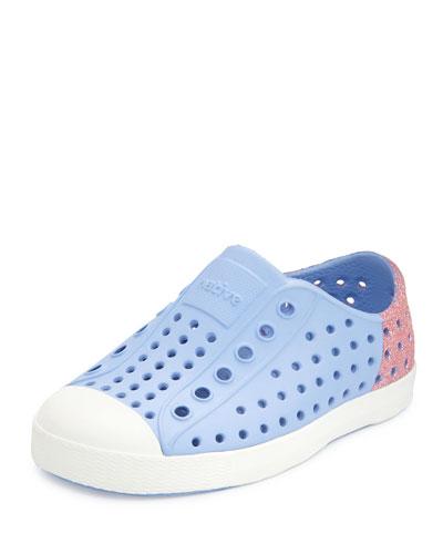 Jefferson Waterproof Glitter-Trim Low-Top Shoe, Youth