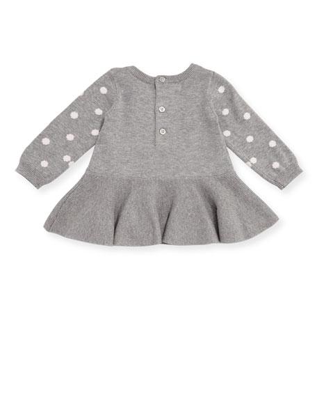 Bow & Polka-Dot Sweater w/ Leggings, Size 3-9 Months