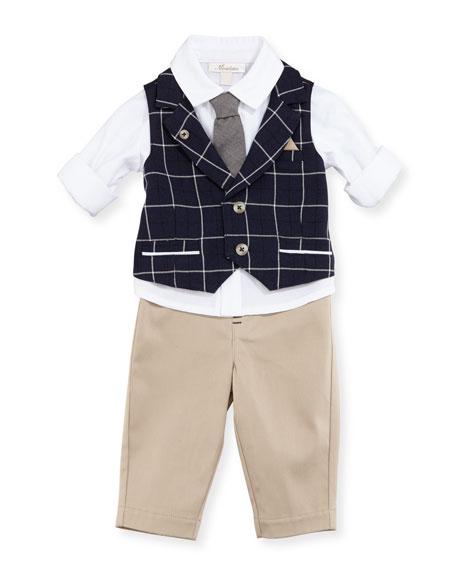 Miniclasix Mock-Vest Shirt w/ Pants, Size 12-24 Months