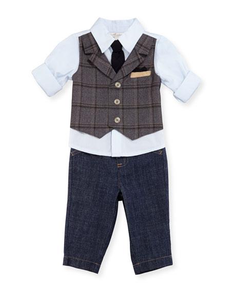 Miniclasix Mock-Vest Shirt w/ Pants, Size 6-24 Months